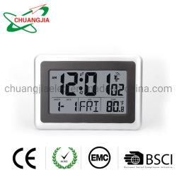 Grande LCD digital controlado por rádio-relógio de parede com Multi-Lanugage