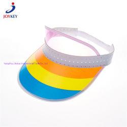 Arco iris de PVC plástico sol Sombrero, coloridos Parasol Sun pico, el turismo de la moda sombrero PVC