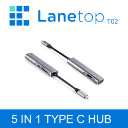 USB 3.1 tipo Lanetop C 5 en 1 Docking
