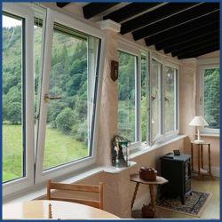 إمالة بلاستيكية PVC (دائرة ظاهرية دائمة) وأدر النوافذ باستخدام شاشة الحشرات
