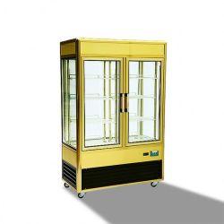 Aluminiumrahmen 828L All-Seiten Glaskuchen-Schaukasten/Bildschirmanzeige-Kühlraum