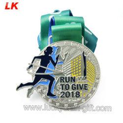 도매 공급자 공장 승진 선물 가격 금속 기술은 아연 합금 주물 금 마라톤 중국에게 한 운영하는 피니셔 인종 스포츠 포상 메달을 주문 설계한다