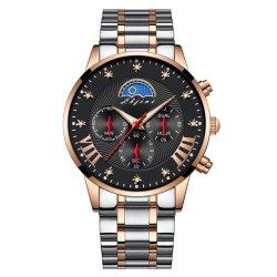 Het Horloge van het Roestvrij staal van de Mensen van uitstekende kwaliteit met de Multifunctionele Beweging van het Kwarts (jy-ST069)
