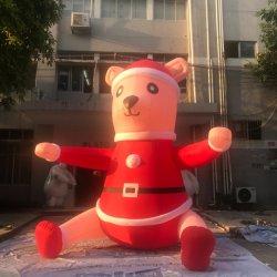 Oxford inflables gigantes de dibujos animados de Navidad para llevar Decoración de Navidad