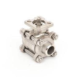 SS304/Cat 1000wog 3PC Clapet à bille en acier inoxydable avec extrémités de raboutage