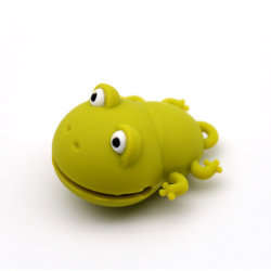 Мало Cute Лягушка формы индивидуального логотипа ПВХ флэш-накопитель USB подарок для школы дети USB2.0 16 ГБ 8 ГБ USB3.0 32ГБ 64ГБ 128 ГБ