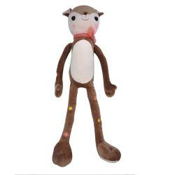 安い膨大なサイズの茶色の装飾的なシカの誕生日プレゼントのための人形によって詰められるプラシ天のおもちゃ