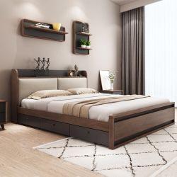 Sólido moderna casa de madeira quarto conjunto de móveis para Duplo Single Cama King size e sofá-cama com colchão