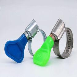 Forte as braçadeiras de mangueira com plástico colorido Butterfly lidar com parafuso de orelhas