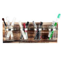 Mason ferme Jar Salle de bains cuisine Panneaux de bois du semoir de stockage