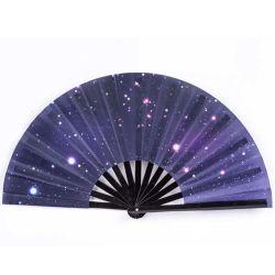 Portátil plegable promocional Verano hermoso tejido de seda Abanicos