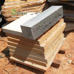 Natürliche Spalte-Gesichts-Stützmauer-Basalt-Stein-Blöcke