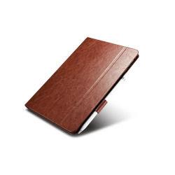 La Chine Fabricant Vente chaude étuis iPad en cuir véritable avec porte-crayon de 9,7 pouces Amazon