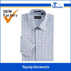 Nach Maß klassische Baumwollplaid-Freizeit-Hemden für Männer