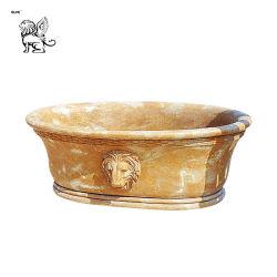 Cultivadas de antigüedades de bañera de patas de mármol con la cabeza de león Mbbg-04