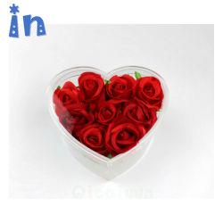Kundenspezifischer Luxuxinner-Form-Raum-Acrylblumen-Rosen-Kasten