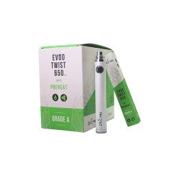 Tensão Variável da Bateria de torção Evod 3.3-4.8V Bateria de 1100 mAh Vape 650/900/Bateria da caneta Vs Vision Spinner 2 cigarros Electrónicos
