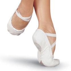 Pattino di balletto in cuoio superiore dei materiali della parte inferiore della tela di canapa dei materiali del tessuto della tela di canapa a buon mercato