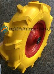 عجلة فوم PU الصلب المستخدمة على عجلة الحامل المتحرك (4.00-8)