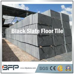 Китайский дешевые черного сланца полы плиткой с поверхности