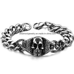 Мода Biker ювелирных изделий из нержавеющей стали браслет из нержавеющей стали 316L Skull браслет для мужская