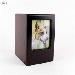 Le bois Animal Coffin Midlee Vente chaude Picture Frame Pet Pet en bois de la mémoire URN pour cendres