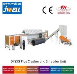 Abwassergasversorgung PVC PE HDPE Kunststoffrohr Zerkleinern Zerkleinerung Maschinen Schleifmaschinen Waschmaschine Crusher Shredder Unit