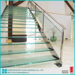 Le verre trempé de sécurité en verre feuilleté pour l'Étage/Balustrade/fenêtre/porte/balcon/clôture/le verre de construction/Salle de bains en verre de couleur/verre plateau de coin