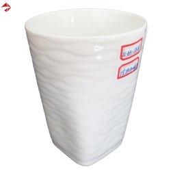 대량 판매를 위해 돋을새김되는 튼튼한 사기그릇 기복 커피잔