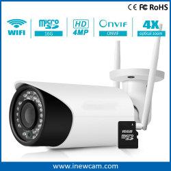 China Proveedor de cámaras de infrarrojos de 4MP cámara IP inalámbrica con la tarjeta SD de 16g
