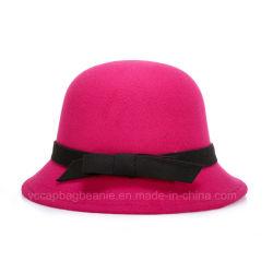 La moda Laides Fedora Sombrero de lana
