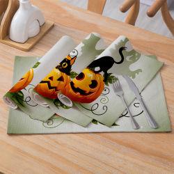 Récapitulatif de fonctionnement de l'Halloween série de dessins animés de gros 2019 Nouvelle table de draps en coton mat tapis rectangulaires de tissu d'accueil de l'Ouest