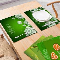 Décoration de Noël de gros de récapitulatif de fonctionnement Nordic vent isolement Table de cuisine Tapis antidérapant