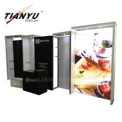 Tian Yu Angebot-Ausstellung-Stand-Hintergrund-Standplatz mit Bildschirmanzeige-Regal für Las- Vegasküche-Erscheinen