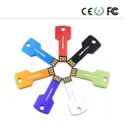 El logotipo de forma libre de metal Llave de memoria USB Flash Disk