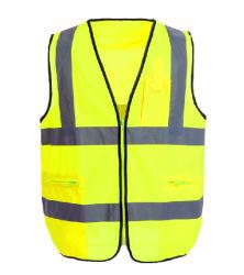 Gilet réfléchissant imperméable Worwear Vêtements de trafic de la sécurité routière