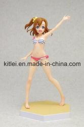 Figura di plastica sexy giocattolo dell'OEM con capelli lunghi