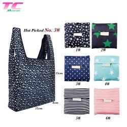 Le pliage des sacs-cadeaux promotionnels imprimés personnalisés sac fourre-tout pliable réutilisables de recycler un sac de shopping