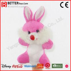لعبة الأرنب الناعم مصنوعة حسب الطلب اصبع الحيوانات البلش أرنب الدمى