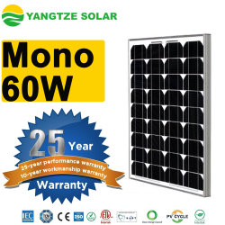 Melhor Preço de venda quente 50wp 55W 60W Mono Painel Solar