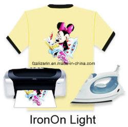 Uitstekende kwaliteit ijzer-op Document van de Overdracht van de Hitte van Inkjet het Lichte voor T-shirt