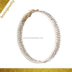Fashion 925 Bijoux en Argent Sterling Zircon de gros de bijoux en or 18K Hoop Earrings avec Diamond pour les femmes