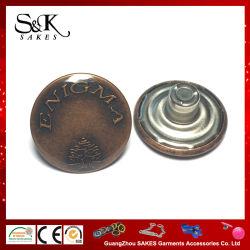 Bouton de queue de fixation en métal Anti-Copper avec couvercle transparent de la colle