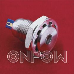 Onpow Metal Indicator (GQ12F-D/R/12V, 12mm, CER, RoHS Compliant)