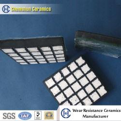 Abrasif soutenue en caoutchouc résistant à la céramique des plaques d'usure