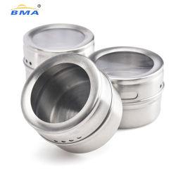 Productie van roestvrij stalen metaalsets magnetische Spice Tins Salt Shaker