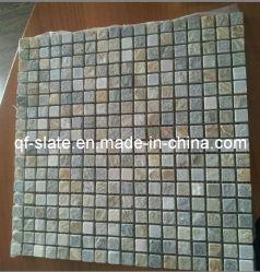 Mosaico naturale dell'ardesia di 100% per la pietra decorativa