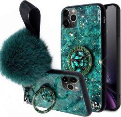 Geval schokbestendige Bling Marmeren Kickstand voor iPhone 11 11 PRO en 11 PRO Maximum
