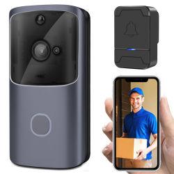 Visione notturna bidirezionale di rilevazione di movimento di colloquio PIR del video del campanello 1080P di WiFi della videocamera di sicurezza citofono astuto senza fili del campanello per porte