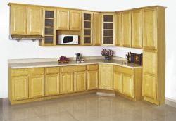 Американская кухня мебель массивная древесина клена и кухонным шкафом